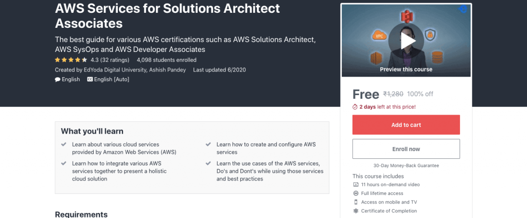 AWS Services for Solutions Architect Associate [2021]