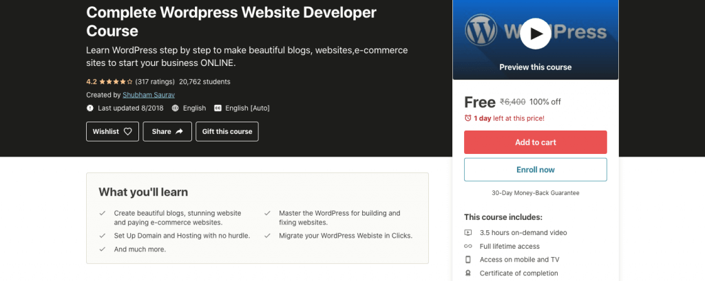 Complete WordPress Website Developer Course