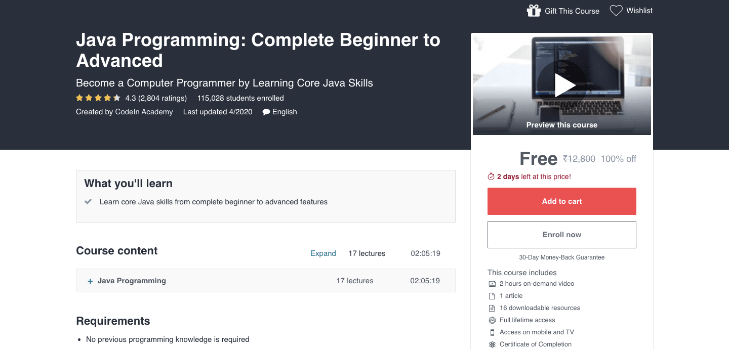 Java Programming: Complete Beginner to Advanced