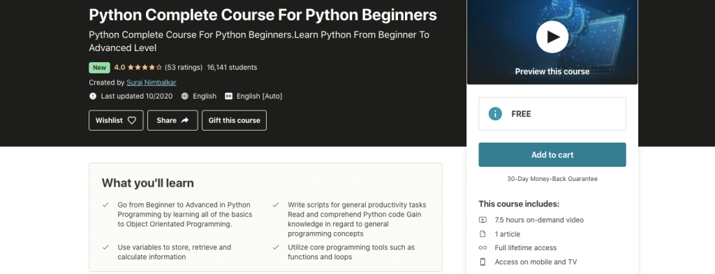 Python Complete Course For Python Beginners