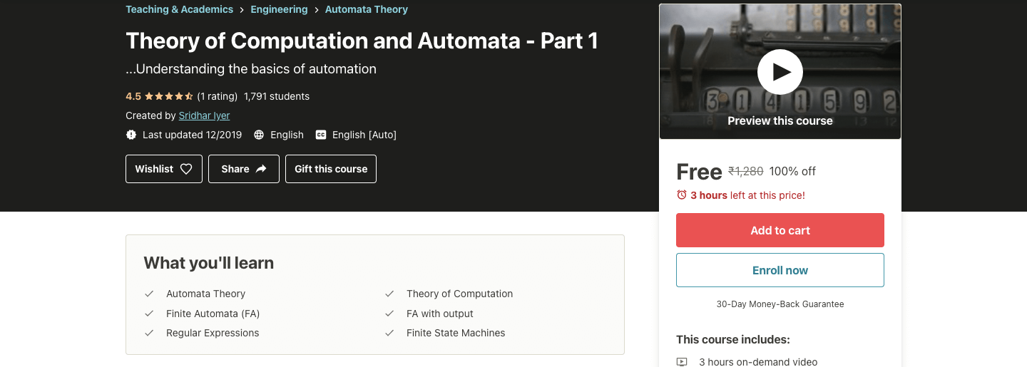 Theory of Computation and Automata - Part 1