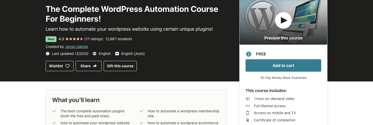 The Complete WordPress Automation Course For Beginners!