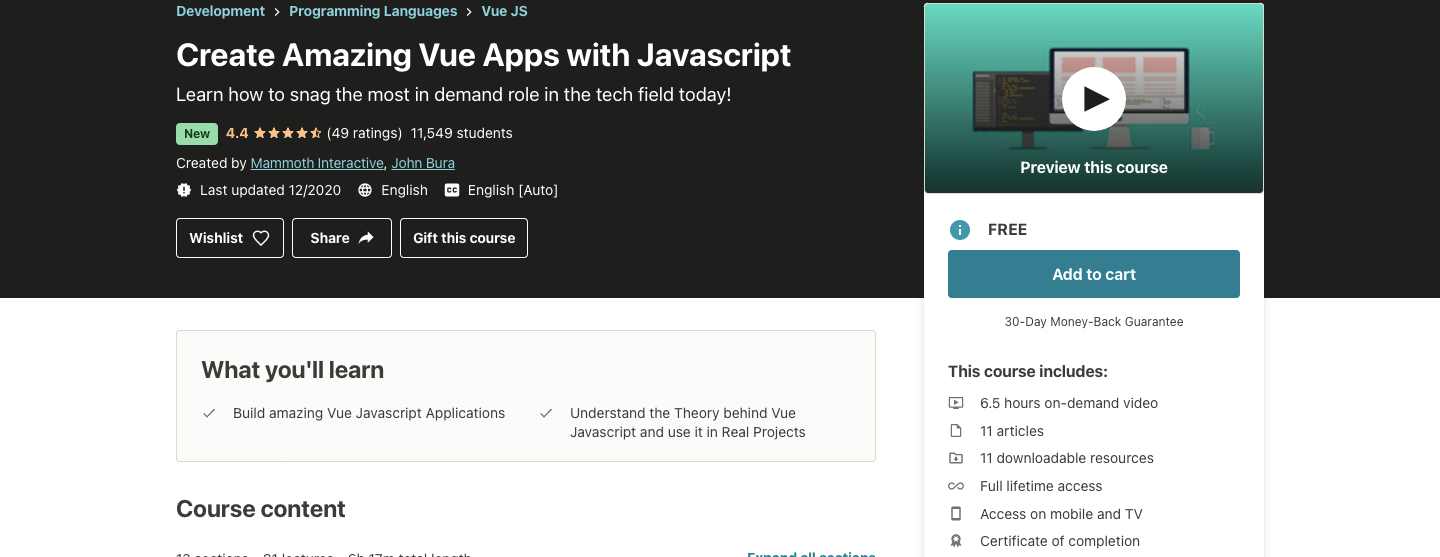 Create Amazing Vue Apps with Javascript