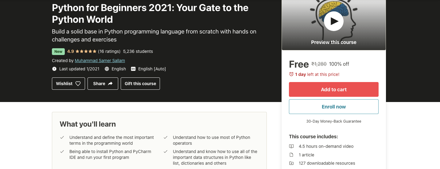 Python for Beginners 2021: Your Gate to the Python World