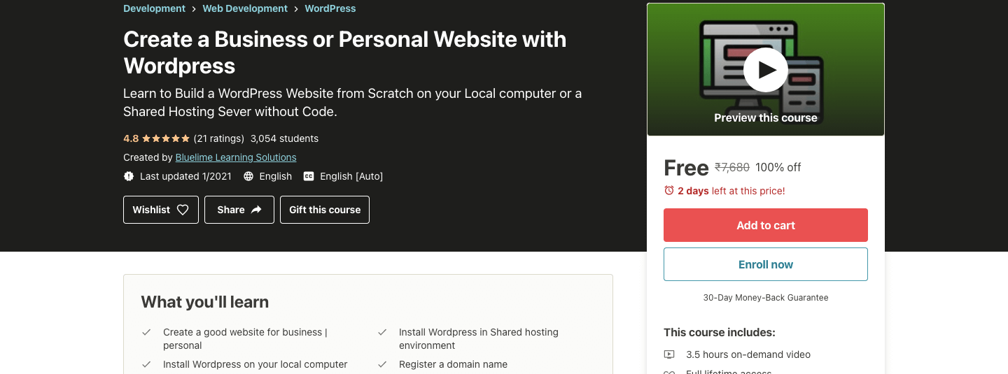 Create a Business or Personal Website with WordPress