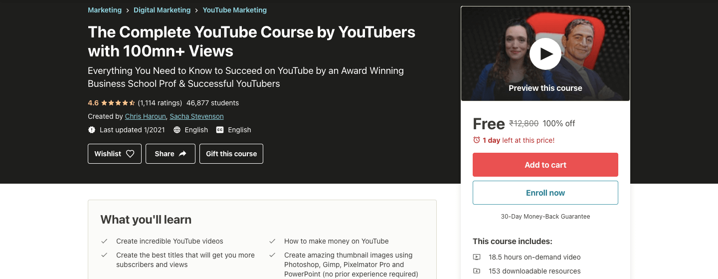 The Complete YouTube Course by YouTubers with 100mn+ Views