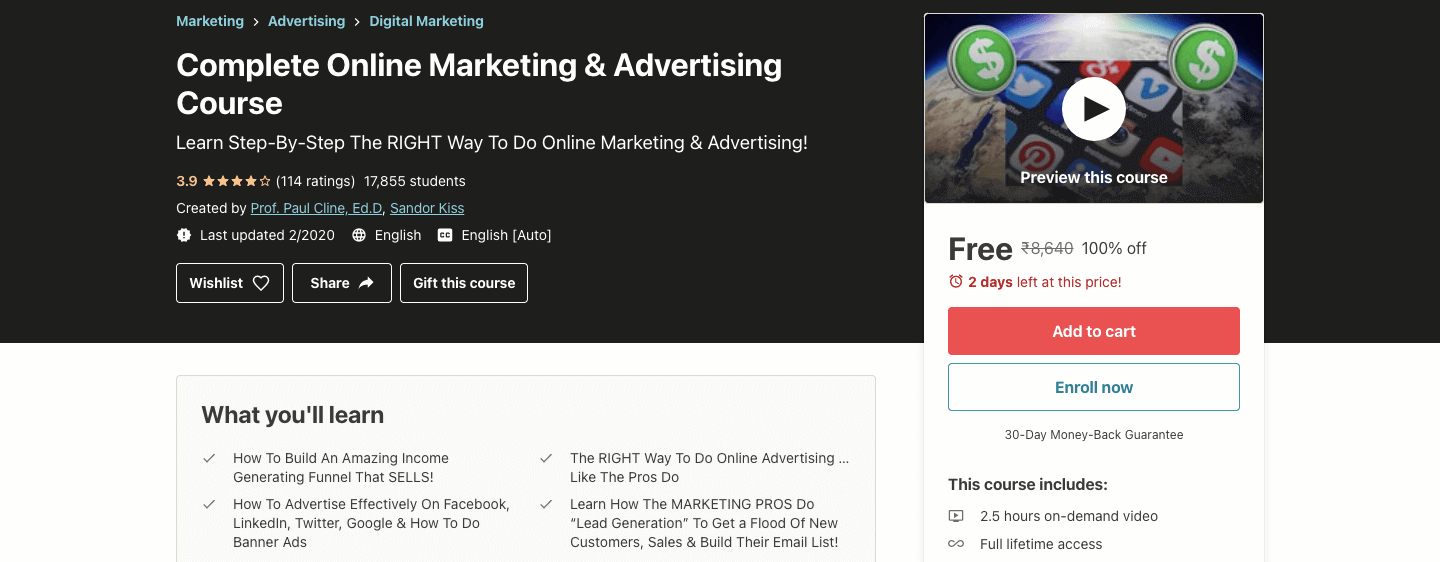 Complete Online Marketing & Advertising Course
