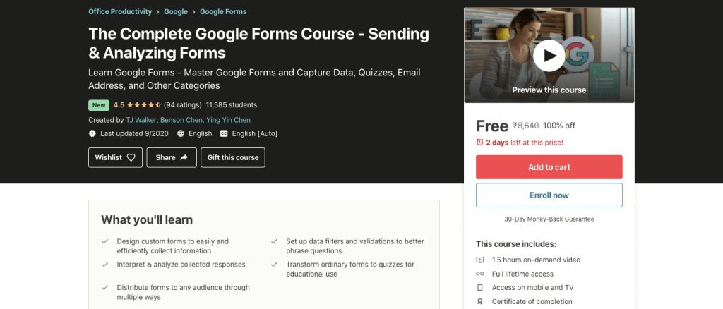 The Complete Google Forms Course - Sending & Analyzing Forms