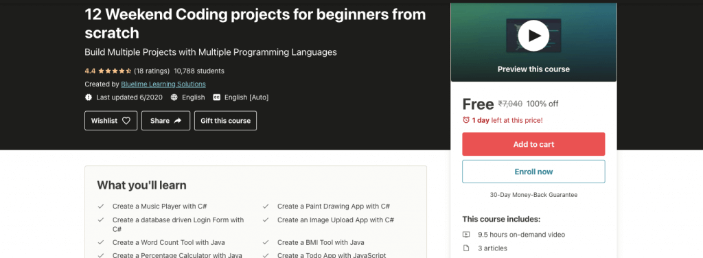 12 Weekend Coding projects for beginners from scratch