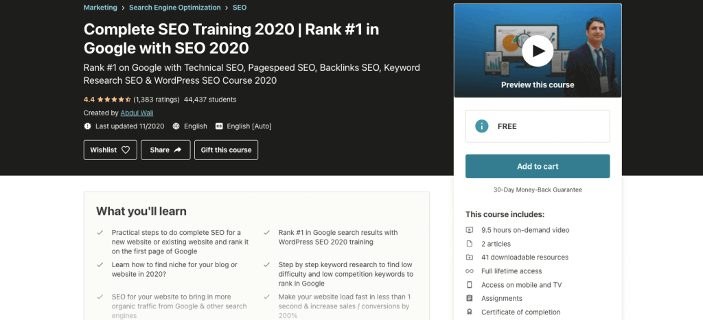 Complete SEO Training 2021 | Rank #1 in Google with SEO 2021