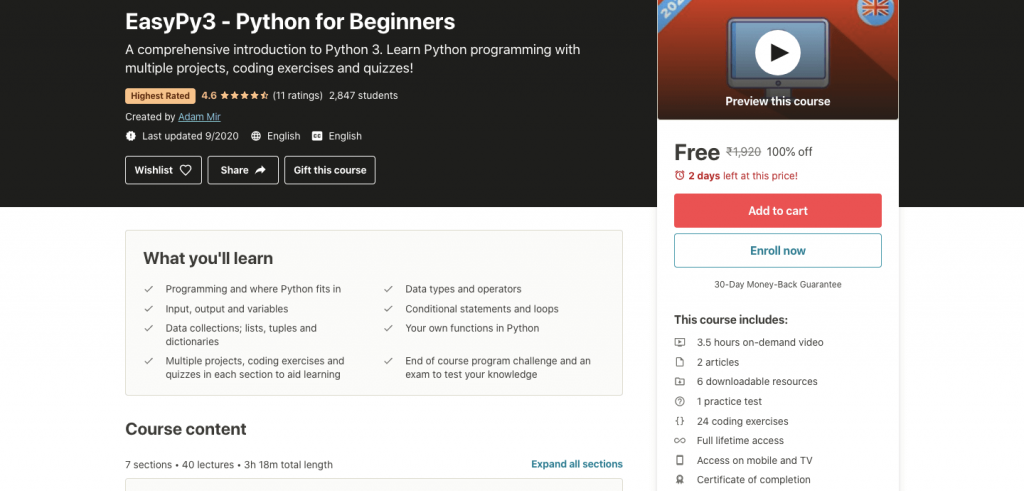 EasyPy3: Python for Beginners
