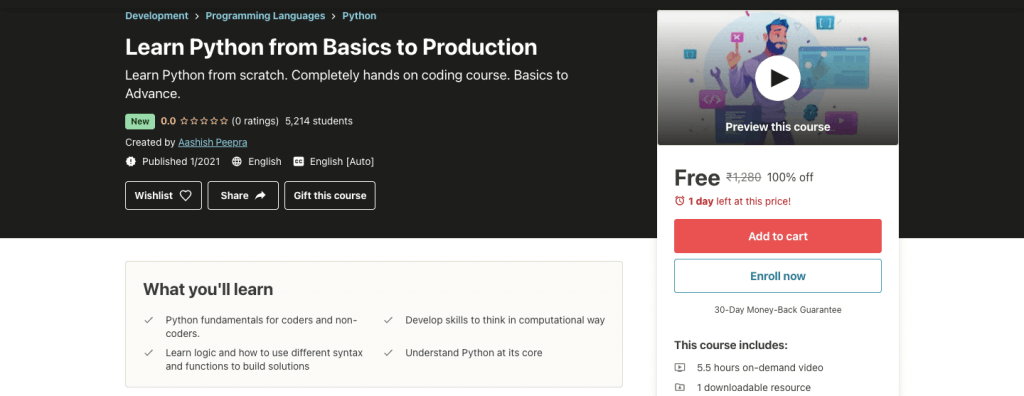 Learn Python from Basics to Production