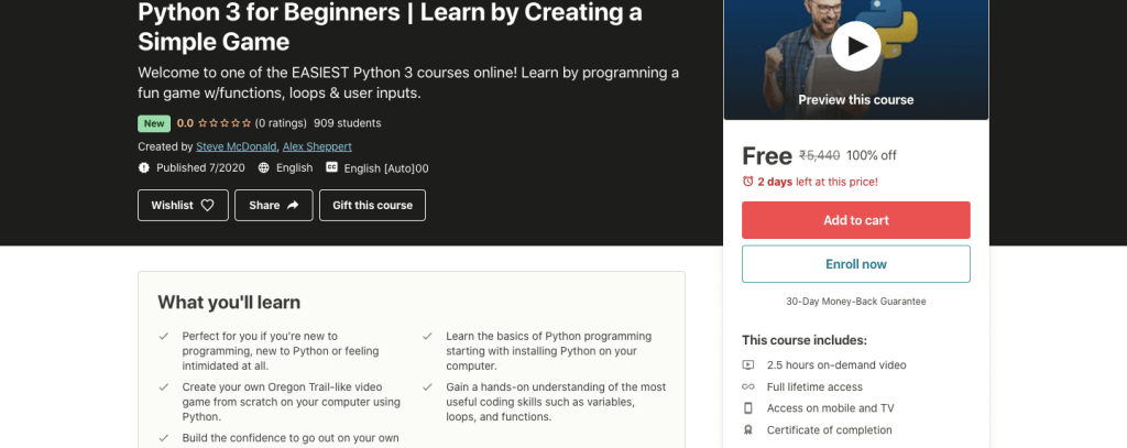 Python 3 for Beginners | Learn by Creating a Simple Game
