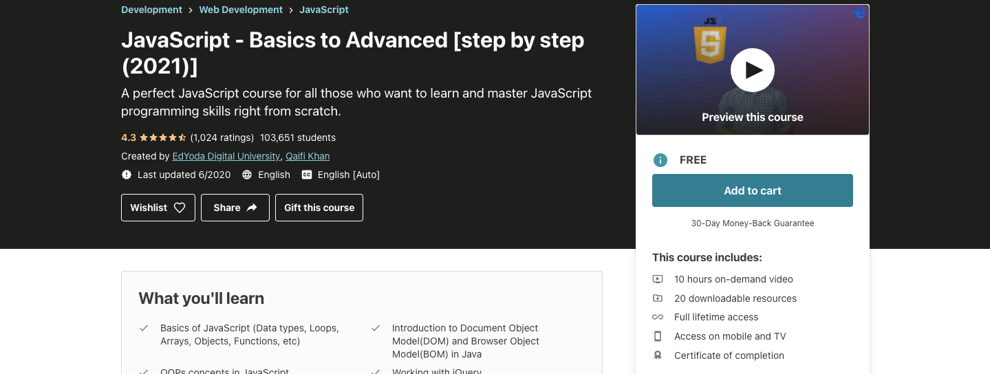 JavaScript - Basics to Advanced [step by step (2021)]
