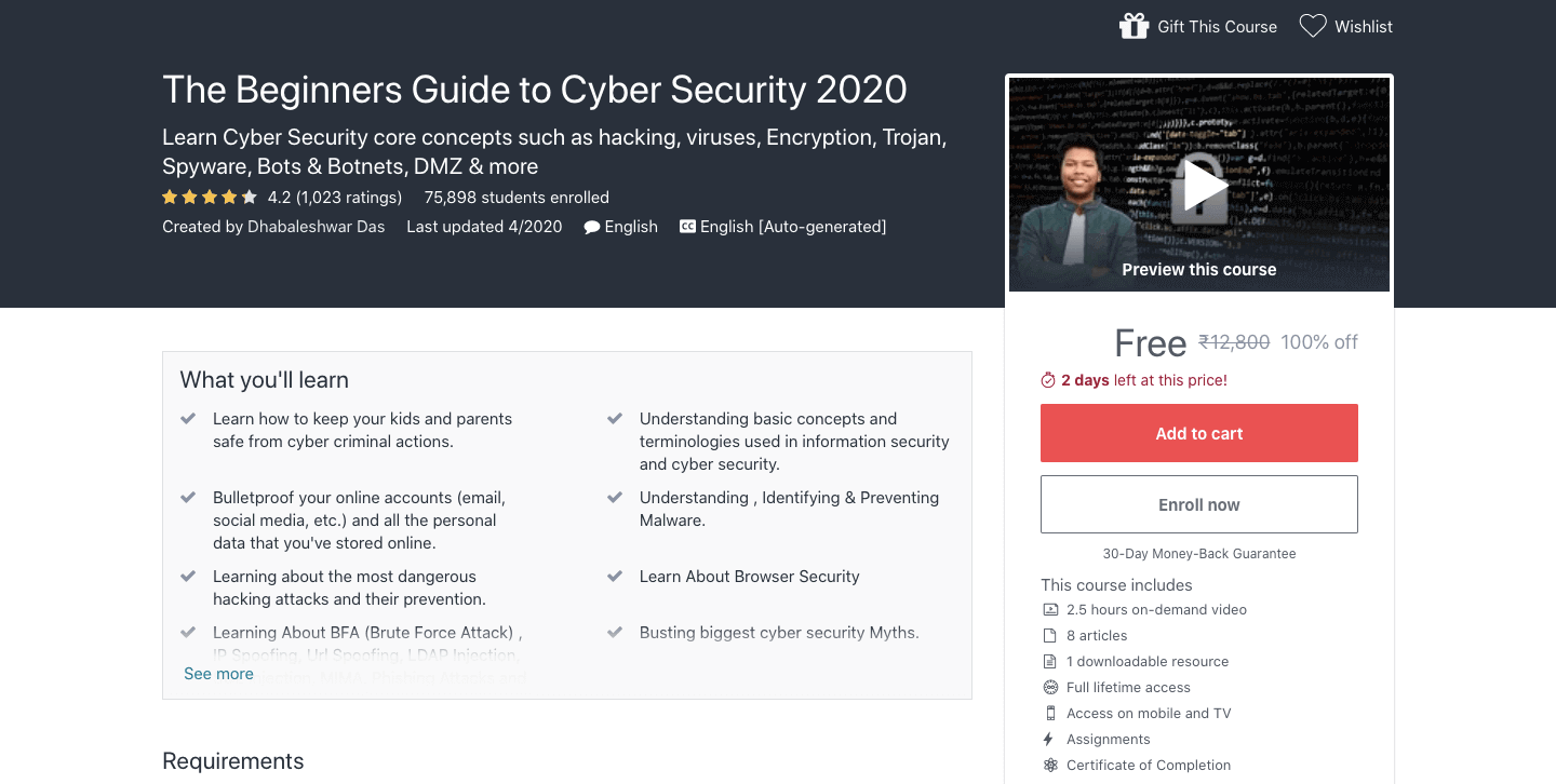 The Beginners Guide to Cyber Security 2021