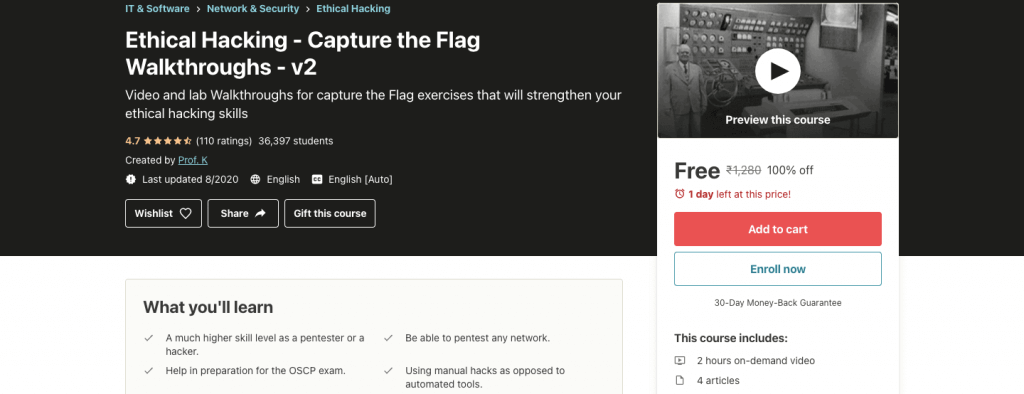 Ethical Hacking - Capture the Flag Walkthroughs - v2