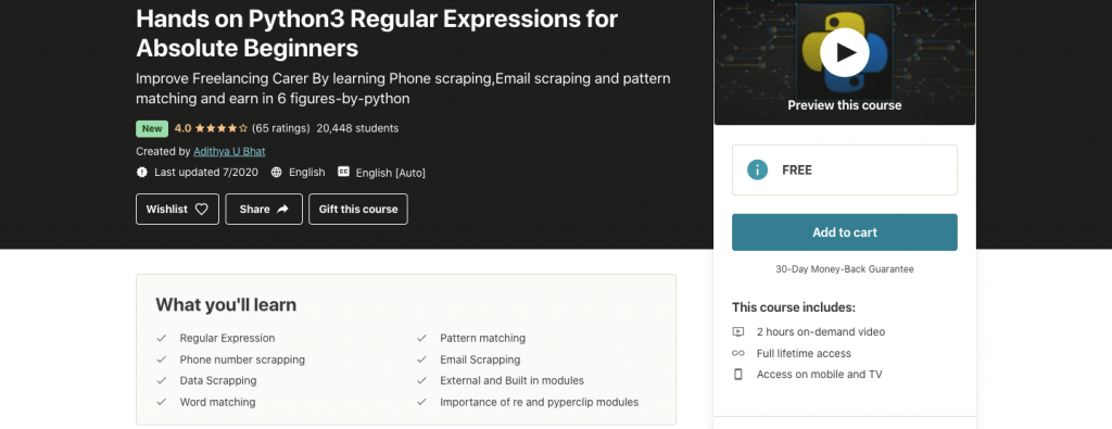 Hands on Python3 Regular Expressions for Absolute Beginners