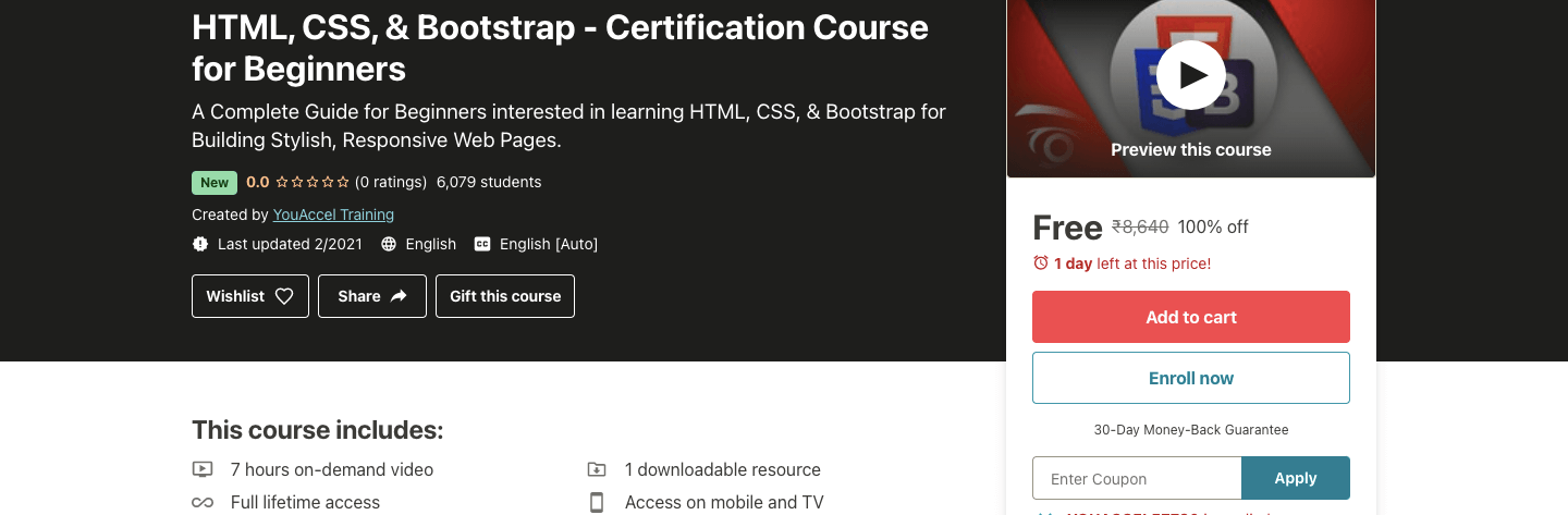 HTML, CSS, & Bootstrap - Certification Course for Beginners