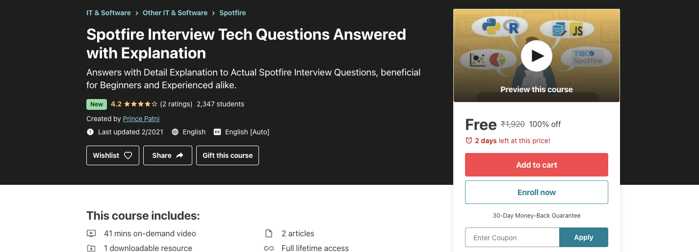Spotfire Interview Tech Questions Answered with Explanation