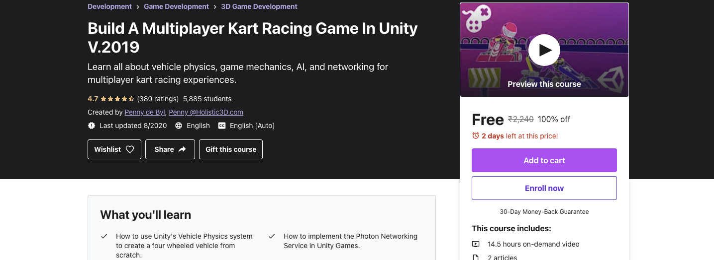 Build A Multiplayer Kart Racing Game In Unity V.2019