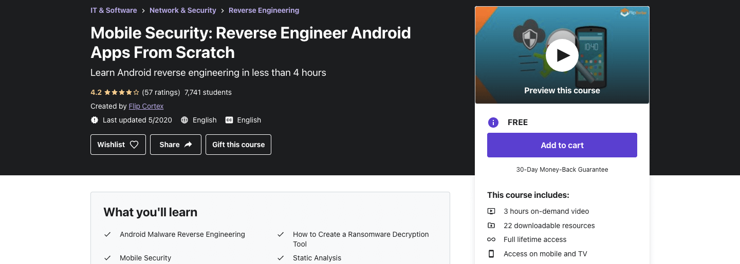 Mobile Security: Reverse Engineer Android Apps From Scratch