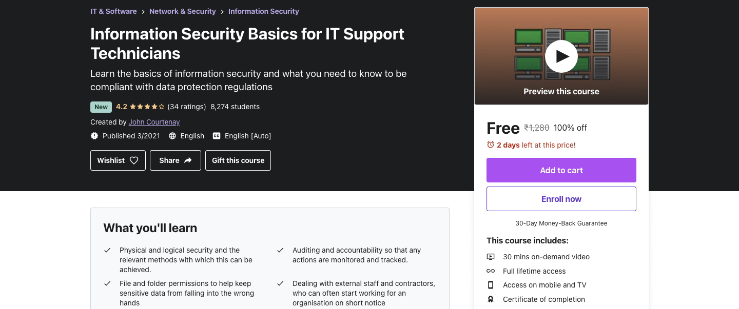 Information Security Basics for IT Support Technicians