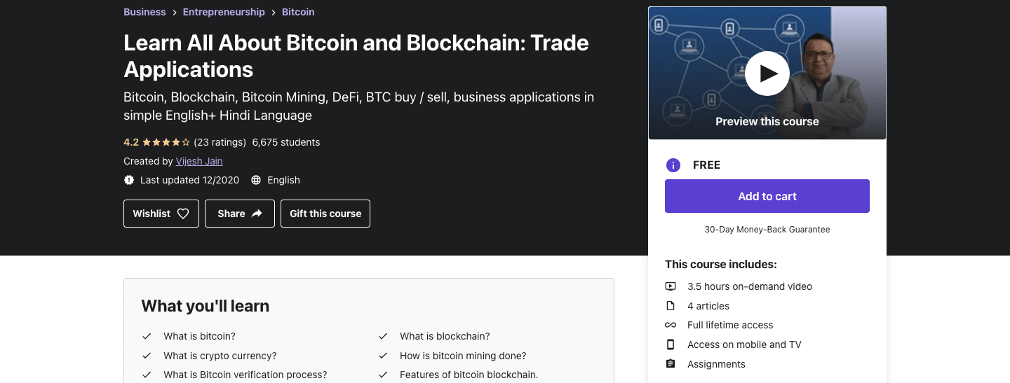 Learn All About Bitcoin and Blockchain: Trade Applications