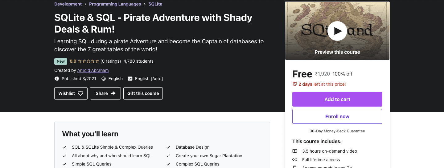 SQLite & SQL - Pirate Adventure with Shady Deals & Rum!
