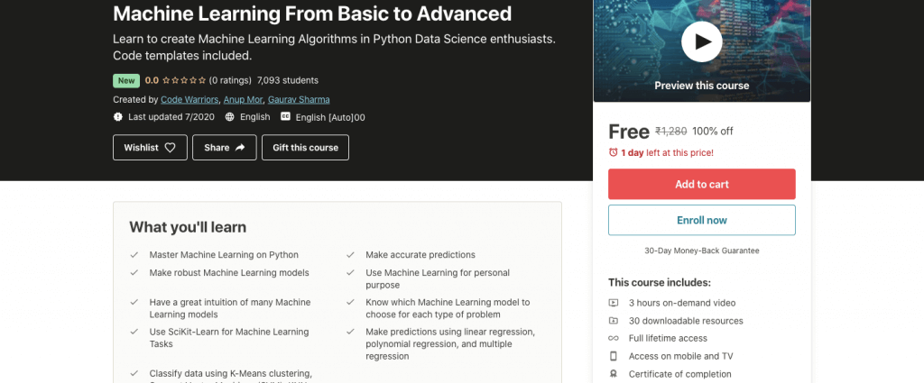 Machine Learning From Basic to Advanced
