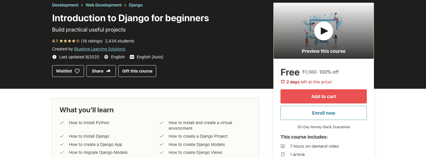 Introduction to Django for beginners