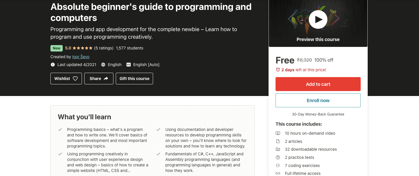 Absolute beginner's guide to programming and computers