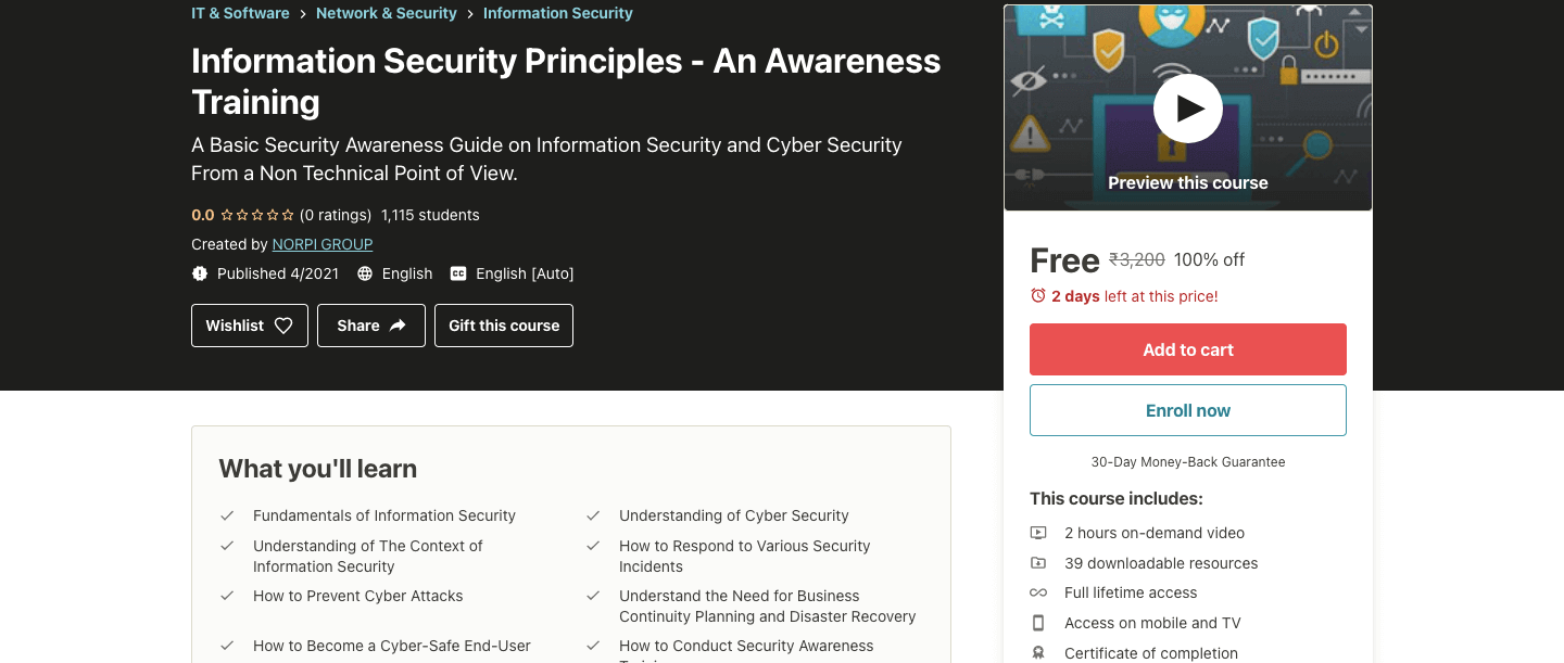 Information Security Principles - An Awareness Training