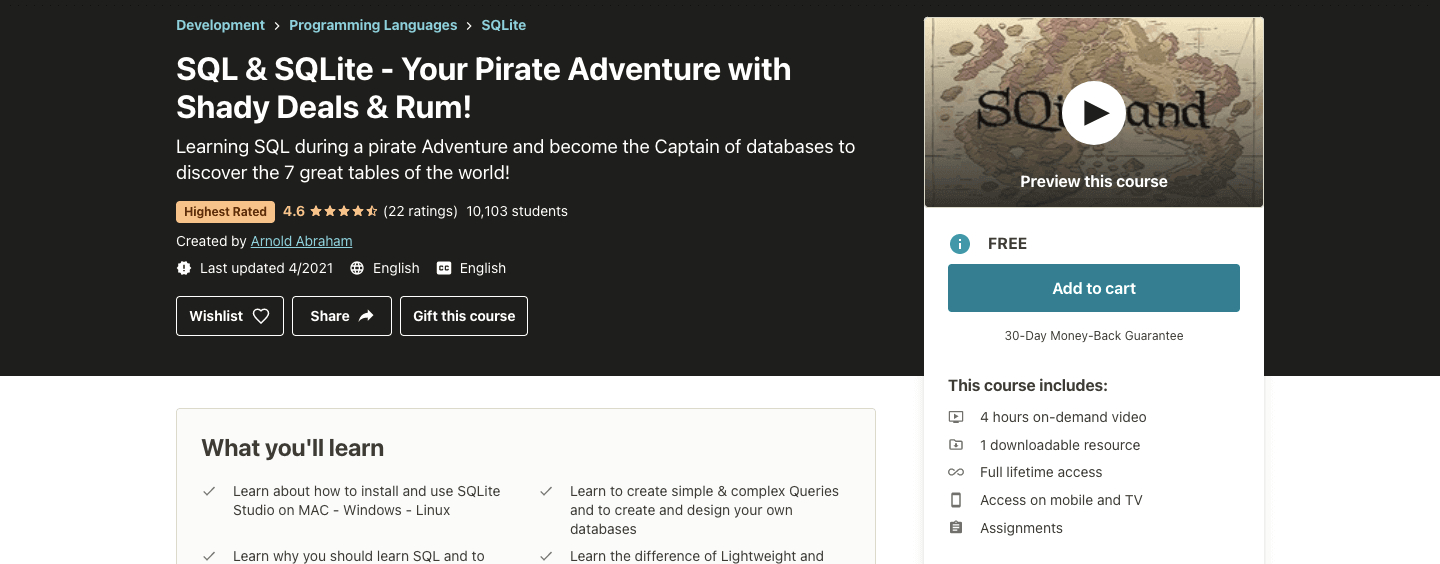 SQL & SQLite - Your Pirate Adventure with Shady Deals & Rum!