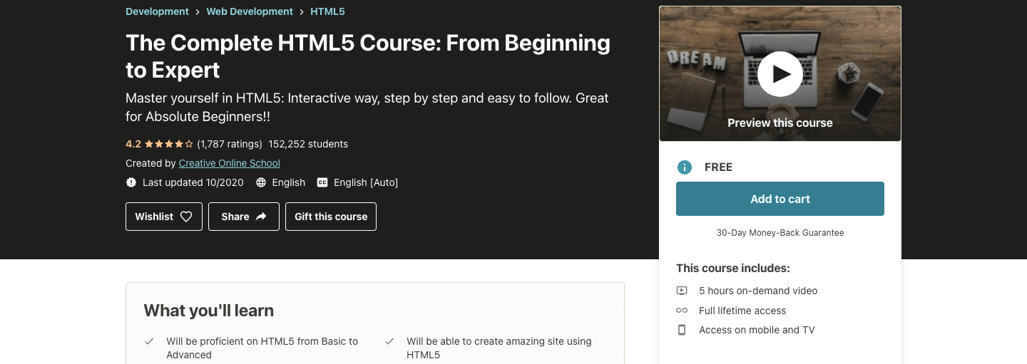The Complete HTML5 Course: From Beginning to Expert