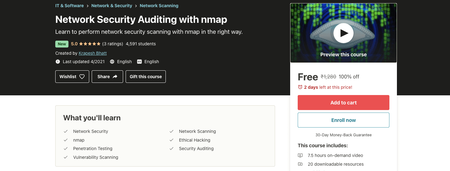 Network Security Auditing with nmap